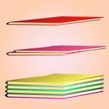 Insieme degli album isometrici nei colori differenti Immagine di vettore Fotografia Stock Libera da Diritti
