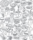 Insieme degli alimenti a rapida preparazione Fotografie Stock Libere da Diritti