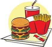 Insieme degli alimenti a rapida preparazione Immagini Stock Libere da Diritti