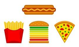 Insieme degli alimenti a rapida preparazione Immagine Stock