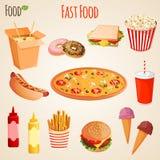 Insieme degli alimenti a rapida preparazione illustrazione vettoriale