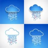Insieme degli ambiti di provenienza astratti di tema della nuvola di tecnologia illustrazione vettoriale