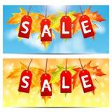 Insieme degli ambiti di provenienza circa la vendita di autunno Immagine Stock Libera da Diritti
