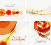 Insieme degli ambiti di provenienza geometrici astratti Onde illustrazione di stock