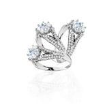 Insieme degli anelli Migliore anello di fidanzamento di nozze illustrazione 3D Immagine Stock Libera da Diritti