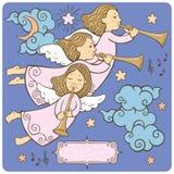 Insieme degli angeli illustrazione di stock