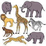 Insieme degli animali africani Immagine Stock