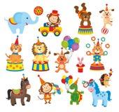 Insieme degli animali in circo illustrazione vettoriale