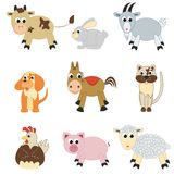Insieme degli animali da allevamento Immagine Stock