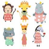 Insieme degli animali di principessa illustrazione di stock