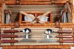 Insieme degli articoli per il picnic Fotografia Stock