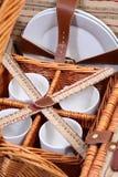 Insieme degli articoli per il picnic fotografia stock libera da diritti
