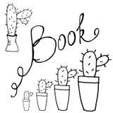 Insieme degli autoadesivi dei libri illustrazione vettoriale