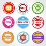 Insieme degli autoadesivi & di x28; etichette, stamps& x29; per la vendita Fotografia Stock