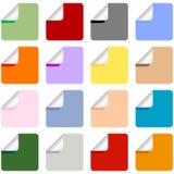 Insieme degli autoadesivi Multi-Colored Fotografie Stock Libere da Diritti