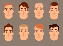 Insieme degli avatar Caratteri maschii illustrazione vettoriale