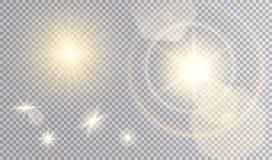 Insieme degli effetti della luce differenti Fotografie Stock