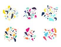 Insieme degli elementi astratti di disegno Immagine Stock