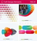 Insieme degli elementi astratti di progettazione di vettore per la disposizione grafica Modello moderno del fondo di affari Immagine Stock