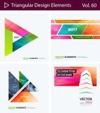 Insieme degli elementi astratti di progettazione di vettore per la disposizione grafica Modello moderno del fondo di affari Fotografia Stock