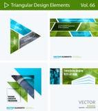 Insieme degli elementi astratti di progettazione di vettore per la disposizione grafica Modello moderno del fondo di affari Fotografia Stock Libera da Diritti