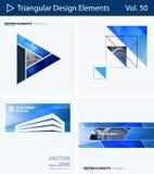 Insieme degli elementi astratti di progettazione di vettore per la disposizione grafica Modello moderno del fondo di affari Fotografie Stock