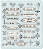 Insieme degli elementi calligrafici di progettazione Immagine Stock