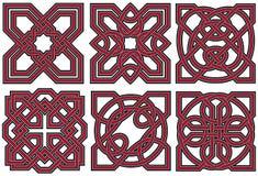 Insieme degli elementi celtici di disegno Fotografia Stock Libera da Diritti