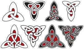 Insieme degli elementi celtici di disegno Fotografie Stock Libere da Diritti