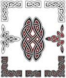 Insieme degli elementi celtici di disegno Immagine Stock