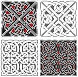 Insieme degli elementi celtici di disegno Immagini Stock