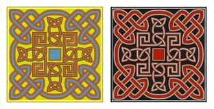 Insieme degli elementi celtici di disegno di vettore Fotografie Stock Libere da Diritti