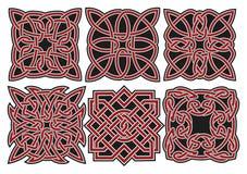 Insieme degli elementi celtici di disegno di vettore Immagini Stock