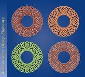 Insieme degli elementi celtici di disegno di vettore Fotografia Stock