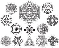 Insieme degli elementi celtici di progettazione del nodo Fotografie Stock