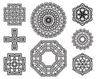 Insieme degli elementi celtici di progettazione del nodo Fotografia Stock