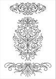 Insieme degli elementi decorativi () Fotografia Stock
