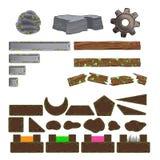 Insieme degli elementi del gioco. Fotografia Stock