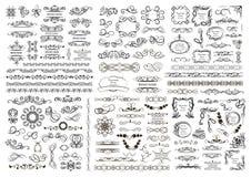 Insieme degli elementi del grafico di vettore per progettazione Fotografia Stock