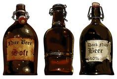 Insieme degli elementi della birra Fotografia Stock Libera da Diritti