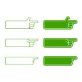 Insieme degli elementi delle frecce di vettore Fotografie Stock Libere da Diritti