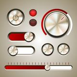 Insieme degli elementi dettagliati di UI Fotografie Stock