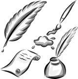 Insieme degli elementi di arte di vettore royalty illustrazione gratis