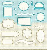 Insieme degli elementi di disegno Immagine Stock