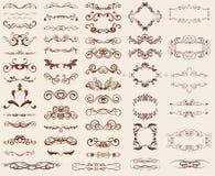 Insieme degli elementi di disegno Immagini Stock