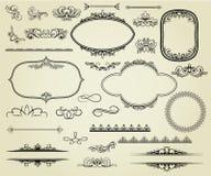 Insieme degli elementi di disegno. Immagine Stock Libera da Diritti