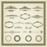 Insieme degli elementi di disegno. illustrazione di stock