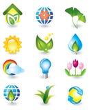 Insieme degli elementi di disegno della natura Immagine Stock Libera da Diritti