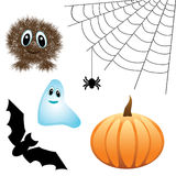 Insieme degli elementi di disegno di Halloween Fotografie Stock