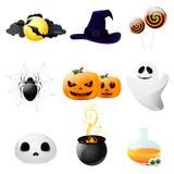 Insieme degli elementi di disegno di Halloween Immagine Stock